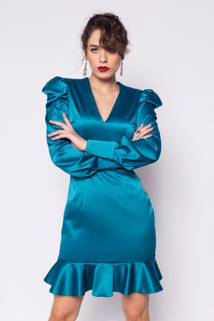 Rochie de seara turcoaz