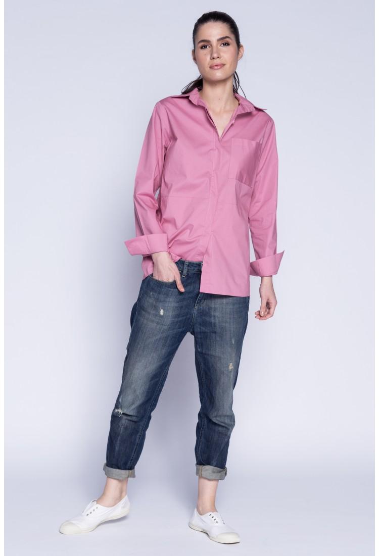 Camasa boyfriend roz pudra