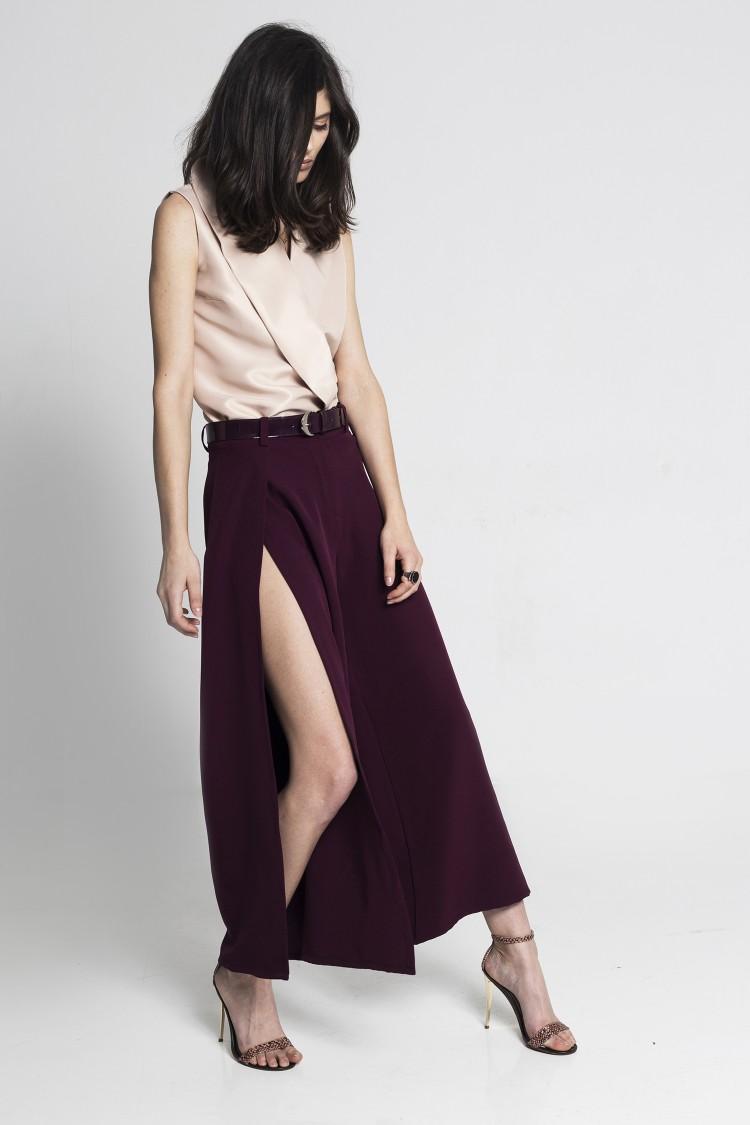 Pantaloni Culottes Marsala