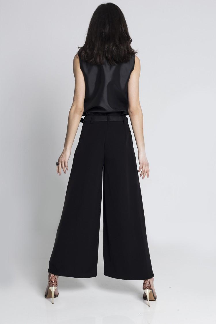 Pantaloni Culottes Negri
